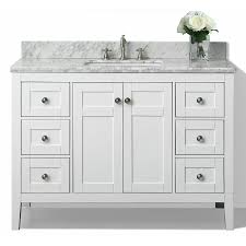 bathroom vanitiy. Ancerre Designs Maili White Undermount Single Sink Bathroom Vanity With Natural Marble Top (Common: Vanitiy