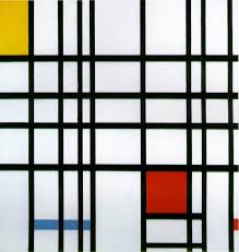 composition with yellow blue and red piet mondrian 1942