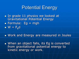 potential energy in grade 11 physics we looked at gravitational potential energy in grade 11 physics