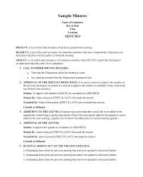 Corporate Minutes Template Word Cumed Org