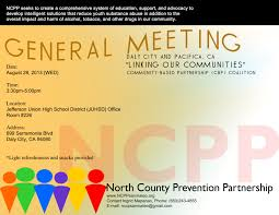 Announcement August 2013 Ncpp Cbp General Meeting North County