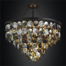 mother of pearl hanging chandelier black magic 586vd26 24mi 3st