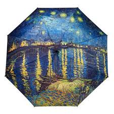 galleria art print auto folding umbrella van gogh over the rhone