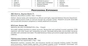 Medical Billing And Coding Job Description Mesmerizing Medical Billing Resume Medical Duties Job Description For Billing