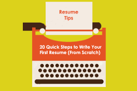 Resume Writing tips for first time resume writers.