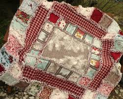 98 best Large Quilts images on Pinterest | Sofa, 2 on and Cozy & Christmas Rag Quilt Winters Lane Rustic by SunflowerRagWorks Adamdwight.com