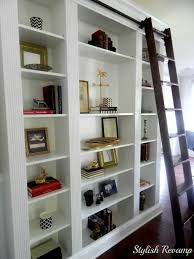 Rolling library ladder  Ikea Billy Bookcase Hack