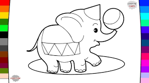 elephant coloring page. Delighful Elephant Circus Animal Elephant Coloring Page  Drawing And Throughout P