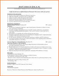 Objective For Pharmacy Resume 6 Example Pharmacy Cv Corpus Beat