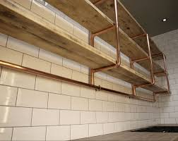 Small Picture Copper pipe reclaimed wood shelving