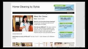 how to write a house cleaning ad house cleaning website template take a tour youtube