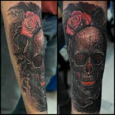 череп и роза Tottem
