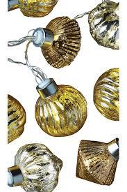 Mercury Glass String Lights Studio Mercantile Mercury Glass Decorative Warm White Led