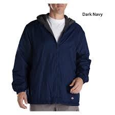 ies men s fleece lined hooded nylon jacket 33237
