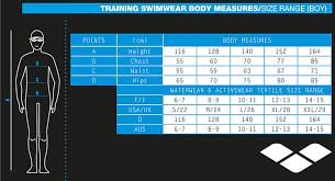 Arena Swim Size Chart 28 Thorough Jammers Size Chart