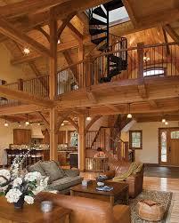 timber frame home interiors. timber treasure frame home - great room loft interiors