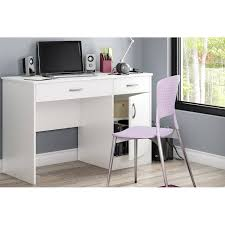 Small Desk For Bedroom Computer South Shore Smart Basics Work Desk Multiple Finishes Walmartcom