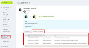 bp log business processes for document approval