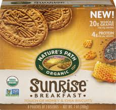 Nature's Path <b>Organic Sunrise</b> Honey & Chia <b>Breakfast</b> Biscuits, 8 ct ...