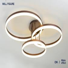 led ceiling light malaysia ring chandelier living room lamp post pendant modern minimalist atmosphere bedroom