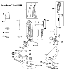 3522 powerfoce upright vacuum parts Vacuum Cleaner Motor Wiring Diagram Hoover Vacuum Cleaner Parts