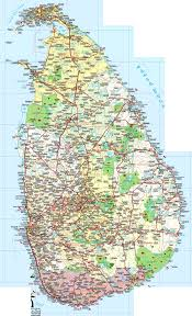 Large Detailed Road And Tourist Map Of Sri Lanka Sri Lanka