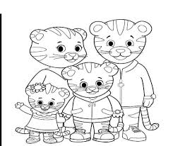 Printable Daniel Tiger Coloring Pages Outline 269 Coloring Page 4 Kids