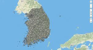 Размеры Южной Кореи