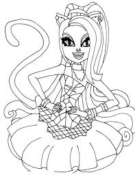 Small Picture monster high catty noir Colouring Pages Coloring Pages for kids