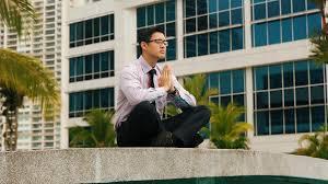 meditation businessman office. Chinese Businessman Meditating Yoga Outside Office During Work Break Stock Video Footage - Videoblocks Meditation R