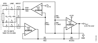 cn0337 circuit note analog devices rtd signal conditioning circuit using a three wire connection