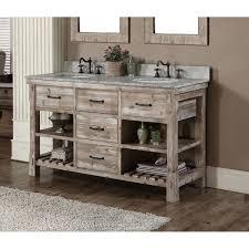 rustic double sink bathroom vanities. Plain Rustic Rustic Style 60inch Double Sink Bathroom Vanity In Vanities I