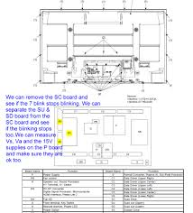 7 Blinking Lights On Panasonic Plasma Tv Panasonic Th 50pe700u Red Light Blinks 5 Times Over And