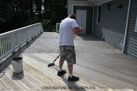 outdoor wood concrete deck coating