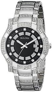 amazon com bulova men s 96b176 crystal watch bulova watches bulova men s 96b176 crystal watch