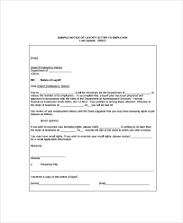 Employee Lay Off Letter Sample Layoff Notice Template 6 Free Documents Download