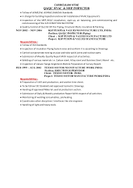 9 building inspector resume