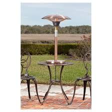 table heater. cimarron brushed table top halogen patio heater - copper fire sense t