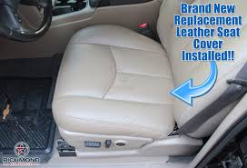 2003 2004 chevy avalanche lt ls z71 z66 leather seat cover driver bottom tan