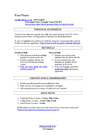 Resume Key Skills And Abilities Skill Example For Sample Examples