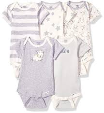 5 Pack Or 15 Multi Size Organic Short Sleeve Onesies Bodysuits
