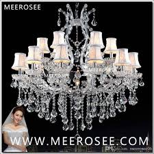 foyer maria theresa crystal chandeliers of living silver clear modern chandelier lamp for hotel 18 lights authentic chrystal chandeliers crystal chandeliers