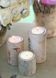 ... Attractive Accessories For Table Centerpiece Decoration With Birch Bark  Candle Holders : Endearing Picture Of Round ...
