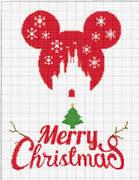 Buy 2 Get 1 Free Mickey Mouse Merry Christmas 770 Modern Cross Stitch Pattern Counted Cross Stitch Chart Pdf Format Instant Download 148192