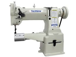 techsew 2700 leather walking foot industrial sewing machine with assembled table servo motor
