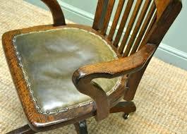 vintage wood swivel desk chair vintage wood and leather office chair desk wood swivel office chair