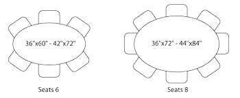 round table size for 6 kitchen tables dimensions size 6 dimensions oval glass table top seating