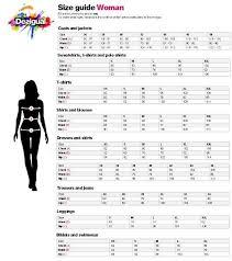 Desigual Size Chart