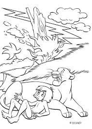 bagheera and mowgli in the jungle