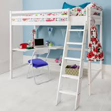 High Sleeper Cabin Bed in White Thomas